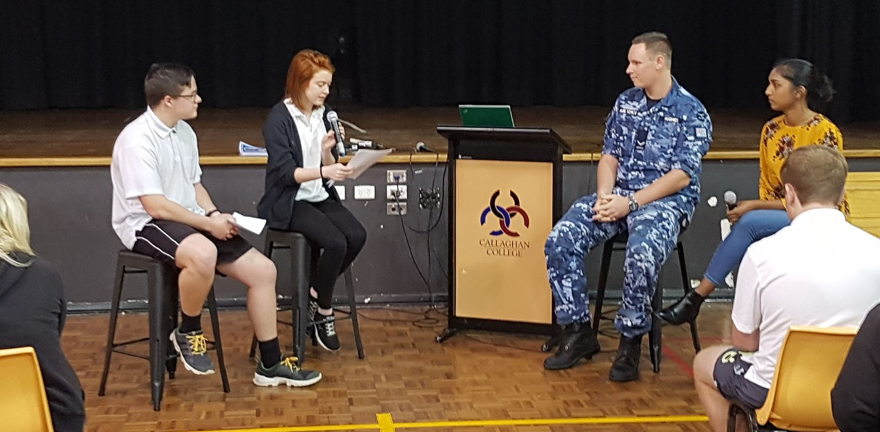 Students and guest speaker from the Australia Defence Force